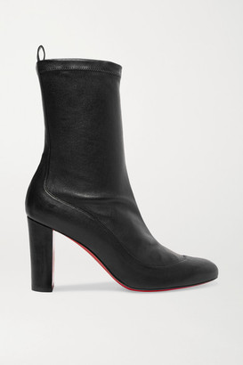 Christian Louboutin Gena 85 Stretch-leather Sock Boots - Black