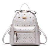 Aimmer Castle Women's Import Leather Mini Weekender Rivet Backpack