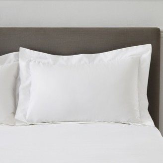 The White Company 500 Thread-Count Pure Cotton Sateen Oxford Pillowcase with Border Single, White, Standard