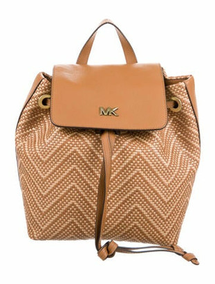 MICHAEL Michael Kors Leather Junie Backpack w/ Tags Brown