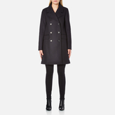 A.P.C. Women's Double Breasted Coat Navy