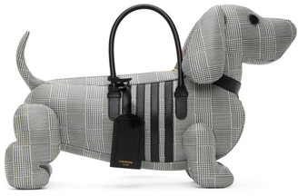 Thom Browne Black and White Prince Of Wales Hector Tote