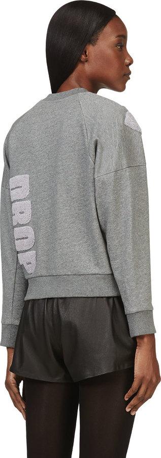 3.1 Phillip Lim Grey 'Name Drop' Sweater