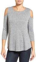 Halogen Knit Cold Shoulder Tee (Regular & Petite)