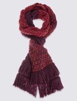 Marks and Spencer Double Block Fringe Scarf