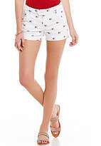 Freestyle Sateen Embroidered American Flag Shorts