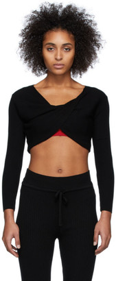 Live The Process Black Knit Cross Body Sweater