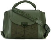 Salvatore Ferragamo foldover satchel bag - women - Cotton/Calf Leather - One Size