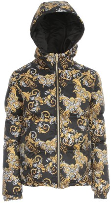 Versace Jeans Couture Printed Reversible Padded Jacker W/written
