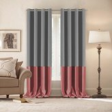 Turquoize Light Blocking Curtains( 2 Panels), Blackout, Two Tones, Grey & Strawberry Pink, Nursery & Infant care drapes, Room Darkening, Thermal Insulated, Grommet/Eyelet Top, 52 by 96 inch