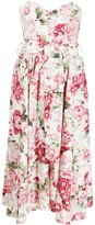 P.A.R.O.S.H. Floral Printed Waist Belt Dress