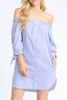 Mono B Off Shoulder Dress