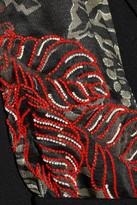 Etro Embellished satin and crepe coat