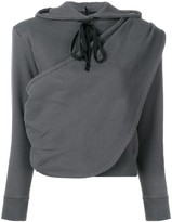 Unravel Project draped hoodie