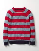 Boden Stripy Raglan Crew Sweater
