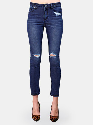 Standards & Practices Bardot High Rise Destroyed Knit Skinny Ankle Jeans