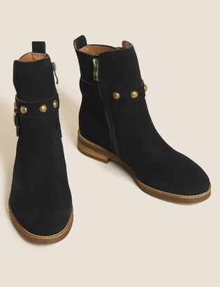 Marks and Spencer Suede Chelsea Buckle Ankle Boots