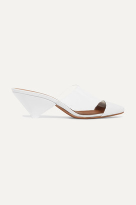 Neous Eriopsis Leather And Pvc Mules - White