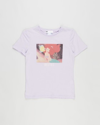 Cotton On Girl's Purple Printed T-Shirts - License Short Sleeve Tee - Kids - Size 3 YRS at The Iconic