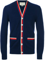 Gucci Cardigan with Web - men - Cotton/Rayon/Cashmere - S