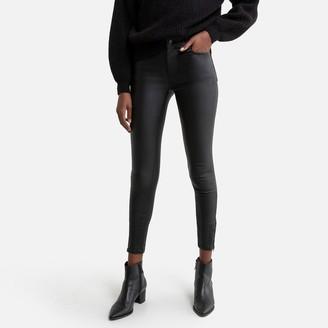 Vila Faux Leather Skinny Trousers