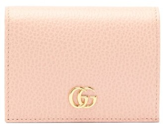 Gucci GG Marmont Grained-leather Wallet - Womens - Light Pink