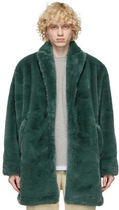 Clot Green Faux-Fur Coat