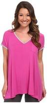 DKNY Urban Essentials Glamour Short Sleeve Top