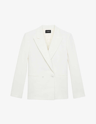 The Kooples Double-breasted woven blazer