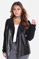 Fashion to Figure Echo Faux Leather Open Cardigan