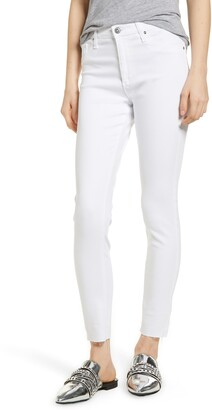 AG Jeans The Farrah High Waist Raw Hem Ankle Skinny Jeans
