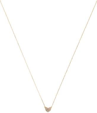 Adina Reyter Pave Folded Heart Pendant Necklace