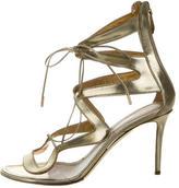 Nicholas Kirkwood Metallic Leather Cage Sandals