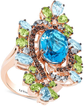 LeVian Le Vian Crazy Collection Multi-Gemstone Ring (12-1/2 ct. t.w.) in 14k Rose Gold