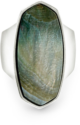 Kendra Scott Kit Cocktail Ring in Bright Silver