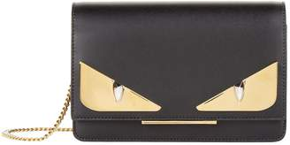 Fendi Mini Leather Bag Bugs Clutch