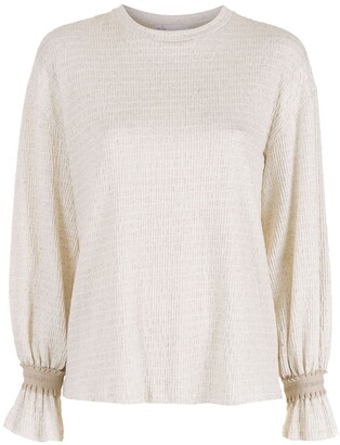 Nk Textured Long Sleeves Blouse
