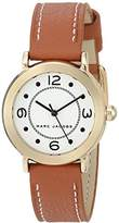 Marc Jacobs Women's 'Riley' Quartz Stainless Steel and Leather Casual Watch, Color:Brown (Model: MJ1576)