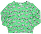 Au Jour Le Jour Rhinos Printed Light Cotton Sweatshirt