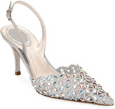 Rene Caovilla Embellished Cutout Slingback Sandals