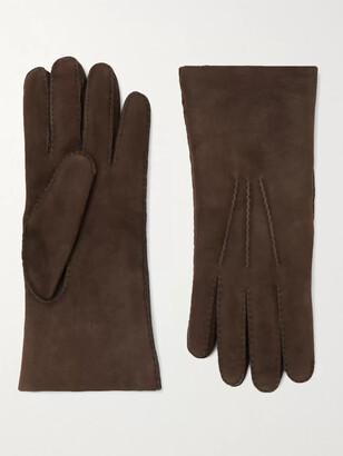 Loro Piana Shearling Gloves - Men - Brown