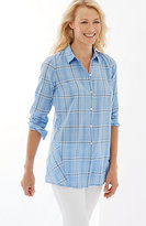 J. Jill Soft Plaid Button-Front Shirt