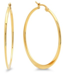 STEELTIME 18K Micron Gold Plated Stainless Steel Hoop Earrings