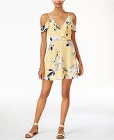 J.o.a. Printed Cold-Shoulder Dress