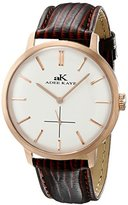 Adee Kaye Men's AK2225-MRG/SV Classique Analog Display Japanese Quartz Brown Watch