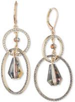 lonna & lilly Gold-Tone Crystal Orbital Double Drop Earrings