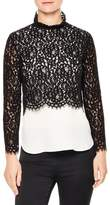Sandro Women's Malia Lace Top