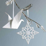 Porcelain Snowflake Ornaments