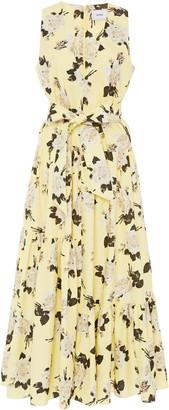 Erdem Mimosa Tiered Floral-Print Maxi Dress
