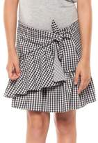 Dex Girl's Ruffled Gingham Skirt